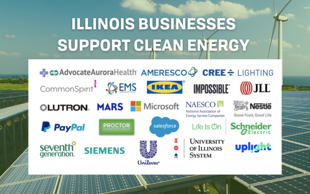 Major Companies, Institutions in Illinois Call for 100% Clean Energy Legislation